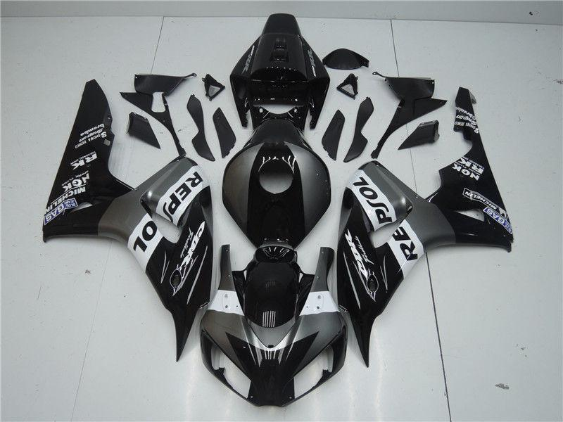 NT Aftermarket Injection ABS Plastic Fairing Fit for CBR1000RR 2006-2007 Gray Black N100