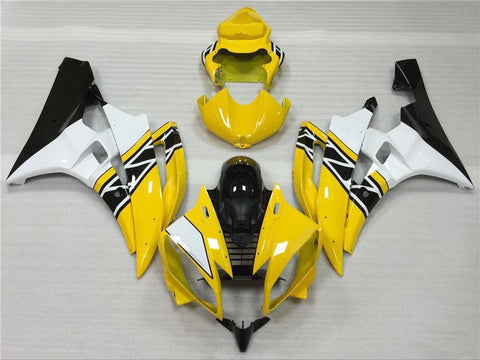 NT Aftermarket Injection ABS Plastic Fairing Fit for YZF R6 2006-2007 Yellow White Black N039 Available in IL