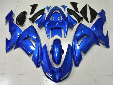 NT Aftermarket Injection ABS Plastic Fairing Fit for ZX10R 2006-2007 Blue N015 Available in TX IL