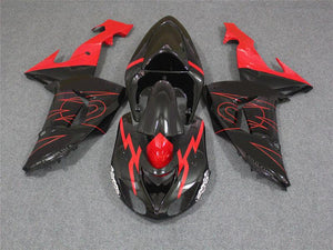 NT Aftermarket Injection ABS Plastic Fairing Fit for ZX10R 2006-2007 Black Red N013 Available in TX
