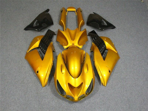 NT Aftermarket Injection ABS Plastic Fairing Fit for ZX14R 2006-2011 Yellow N002