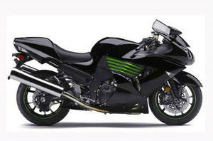 NT Aftermarket Injection ABS Plastic Fairing Fit for ZX14R 2006-2011 Black Green N006
