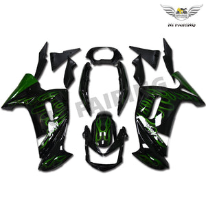 NT Aftermarket ABS Plastic Fairing Fit for EX650R 2006-2010 Green Black N003