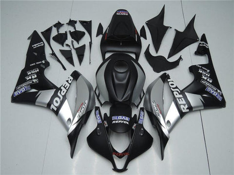 NT Aftermarket Injection ABS Plastic Fairing Fit for CBR600RR 2007-2008 Silver Black N062 Available in IL