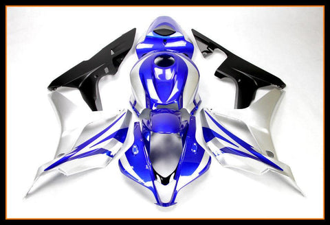 NT Aftermarket Injection ABS Plastic Fairing Fit for CBR600RR 2007-2008 Blue Silver Black N066 Available in IL