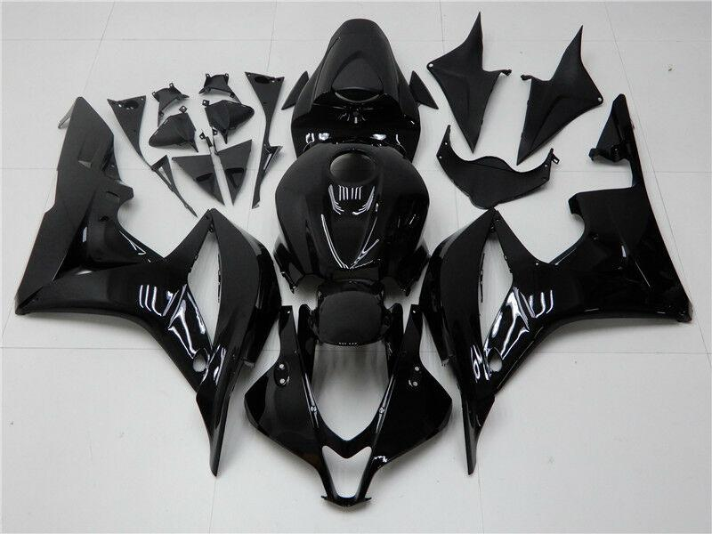 NT Aftermarket Injection ABS Plastic Fairing Fit for CBR600RR 2007-2008 Glossy Black N069 Available in CA, TX, KY
