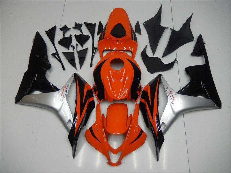 NT Aftermarket Injection ABS Plastic Fairing Fit for CBR600RR 2007-2008 Red Silver Black N074