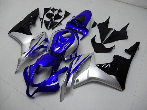 NT Aftermarket Injection ABS Plastic Fairing Fit for CBR600RR 2007-2008 Blue Silver Black N084 Available in TX