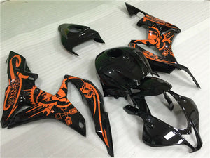 NT Aftermarket Injection ABS Plastic Fairing Fit for CBR600RR 2007-2008 Orange Black N081 Available in CA