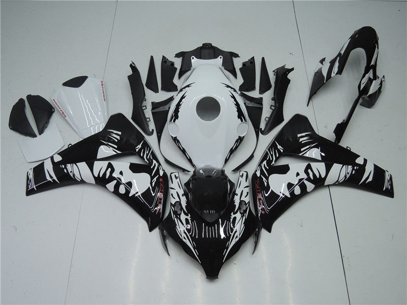 NT Aftermarket Injection ABS Plastic Fairing Fit for CBR1000RR 2008-2011 Black White N084 Available in IL