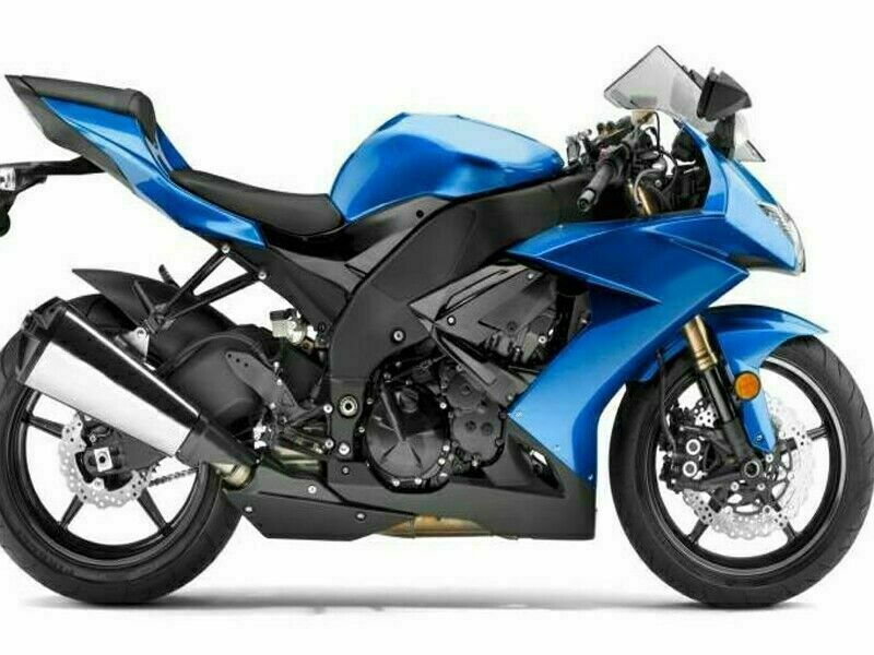 NT Aftermarket Injection ABS Plastic Fairing Fit for ZX10R 2008-2010 Blue Black N008