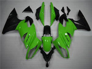 NT Aftermarket ABS Plastic Fairing Fit for EX650R 2009-2011 Green Black N003 Available in TX