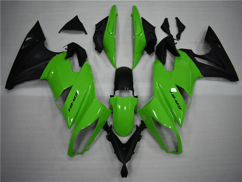 NT Aftermarket ABS Plastic Fairing Fit for EX650R 2009-2011 Green Black N003