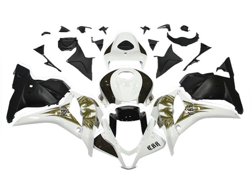 NT Aftermarket Injection ABS Plastic Fairing Fit for CBR600RR 2009-2012 Black White N017
