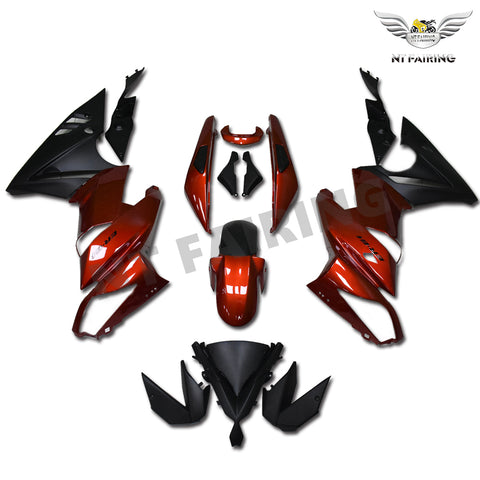 NT Aftermarket ABS Plastic Fairing Fit for EX650R 2009-2011 Red Black N002