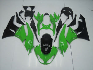 NT Aftermarket Injection ABS Plastic Fairing Fit for ZX6R 636 2009-2012 Green Black N004