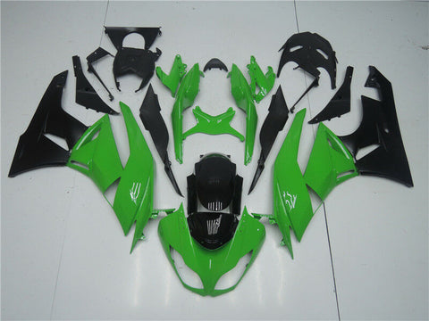 NT Aftermarket Injection ABS Plastic Fairing Fit for ZX6R 636 2009-2012 Green Black N004 Available in TX