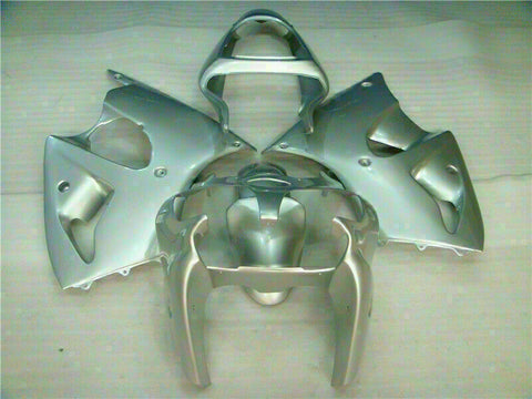 MSA Fit for Kawasaki 2000-2002 ZX6R Plastic Silver Injection Fairing Bodywork t012