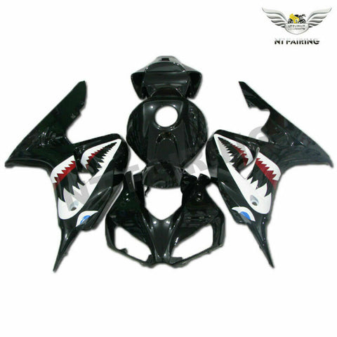 MS Injection Black Kit Fairing Fit for Honda 2006-2007 CBR1000RR ABS Cowl u081