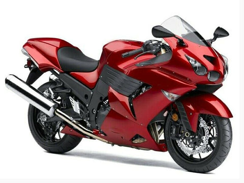 NT Kit Fairing Fit for 2006-2011 ZX14R ZZR1400 Red Black Injection ABS Set e07A