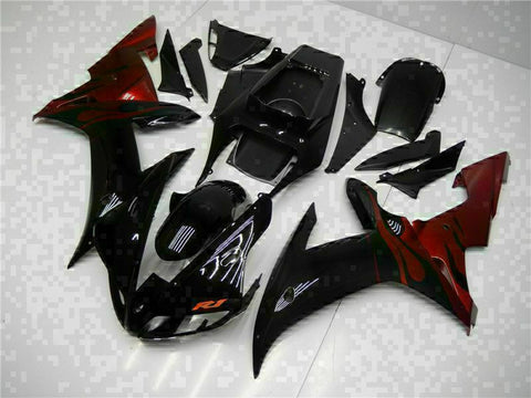 MSB Injection Mold Kit Black ABS Fairing Fit for Yamaha 2002-2003 YZF R1 g002-01