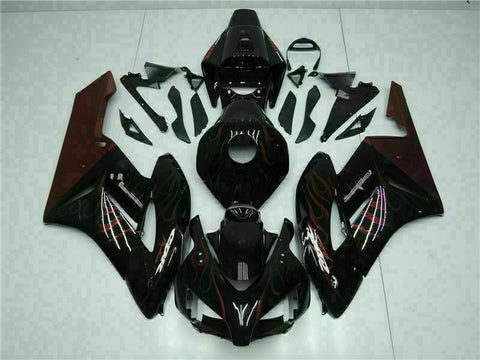 MS Injection Plastic Red Flame Fairing Kit Fit for Honda2004-2005 CBR1000RR u0120