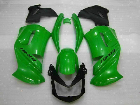 MSA Fit for Kawasaki Ninja Fairing Kit 650R 2006-2008 ER6F Plastic Green t008