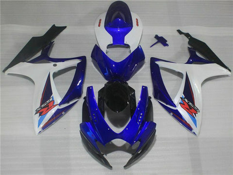 MSB Injection Mold Blue Fairing Kit Fit for Suzuki 2006 2007 GSXR 600 750 v040