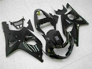 MS Injection Mold Glossy Black Fairing Fit for Suzuki 2000-2002 GSXR 1000 q021