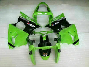 MS Fit for Kawasaki 2000-2002 ZX6R Plastic Green Black Injection Fairing ABS t021