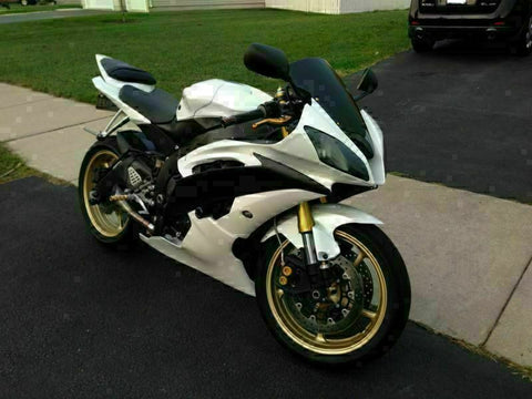 MS Injection Bodywork White Black Fairing Fit for Yamaha 2008-2015 YZF R6 g060