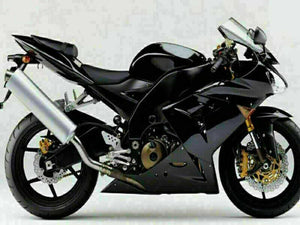 MSA Fit for Kawasaki Ninja 2004-2005 ZX10R Glossy Black Injection Fairing s008