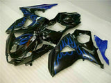 MS Injection Blue Flame Black Fairing Kit Fit for Suzuki 2009-2016 GSXR1000 q022
