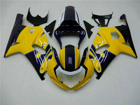 MSB Injection Mold Yellow Fairing Fit for Suzuki 2001-2003 GSXR 600 750 n009