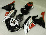 MS Injection ABS Red White Black Fairing Fit for Yamaha 2008-2015 YZF R6 g004