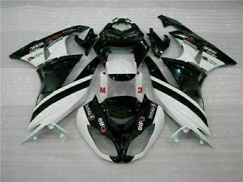MSA Injection Fairing Fit for Kawasaki 2009-2012 ZX6R Plastic With Seat Cowls t032-T