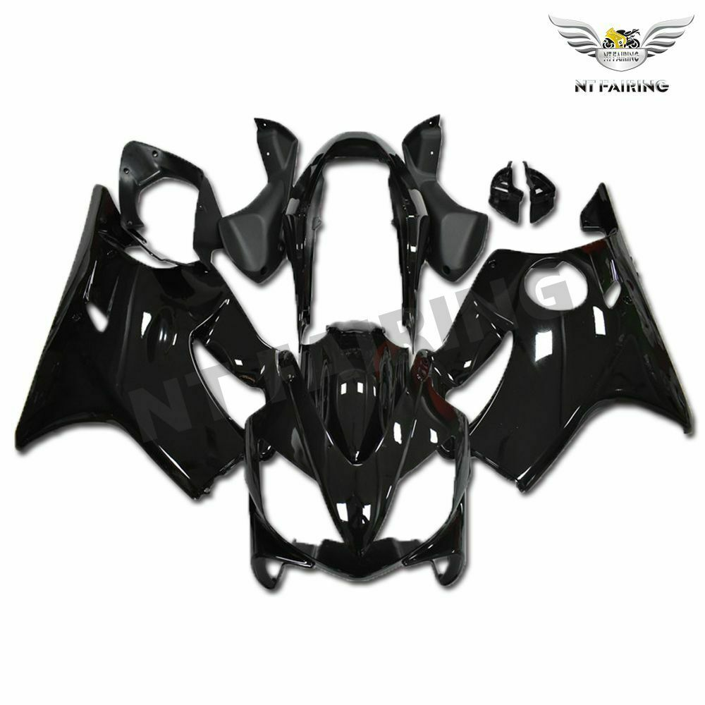 MSA Injection Glossy Black Fairing Fit for Honda 2004-2007 CBR600 F4I WTH f023