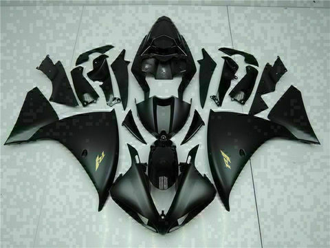 MSB Injection Black Plastic Fairing Kit Fit for Yamaha YZF R1 2009-2011 g0HG-027