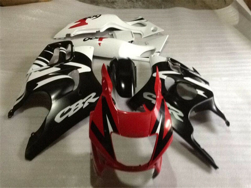 MSA Red  Injection Plastic Fairing Set Fit for Honda 1997-1998 CBR600F3 u001