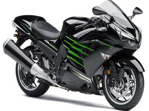 NT Black Green Fairing Kit Fit for Injection ZX14R ZZR1400 2012-2017 a001
