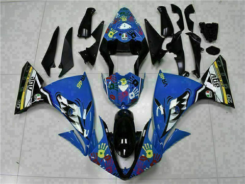 MSB Injection Blue Plastic Fairing Kit Fit for Yamaha YZF R1 2009-2011 ABS g034s