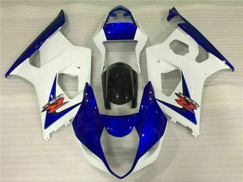 MS Injection Mold White Blue ABS Fairing Fit for Suzuki 2003-2004 GSXR 1000 o013