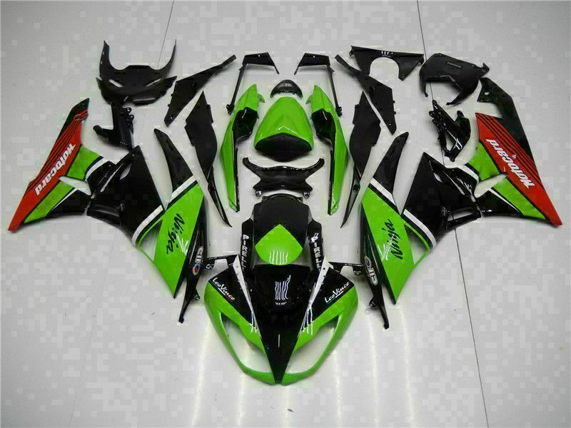 MSA Injection Fairing Fit for Kawasaki 2009-2012 ZX6R Plastic With Seat Cowls t007HG