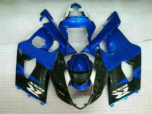 MS Injection Molded Blue Black Fairing Fit for Suzuki 2003-2004 GSXR 1000 r018