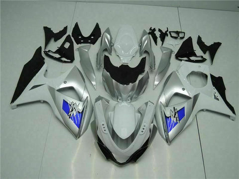 MS Injection Silver White Fairing Kit Fit for Suzuki 2009-2016 GSXR 1000 o037