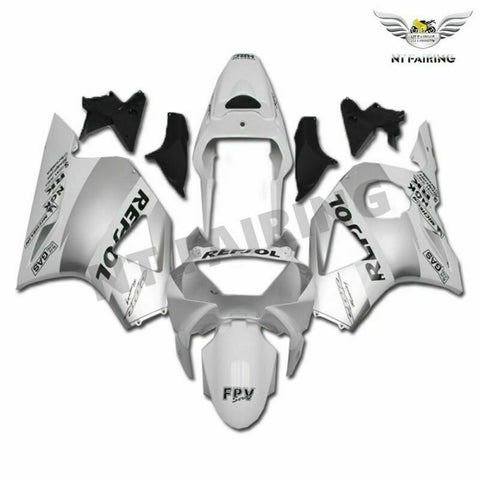 MS Injection White Silver Fairing Fit for Honda 2002 2003 CBR954RR 900RR u027