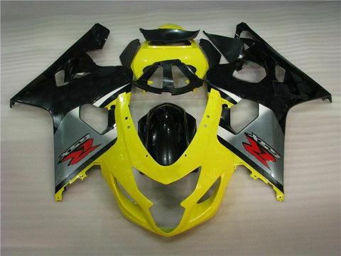 MSB Injection  Yellow Black Fairing Fit for Suzuki 2004 2005 GSXR 600 750 k061