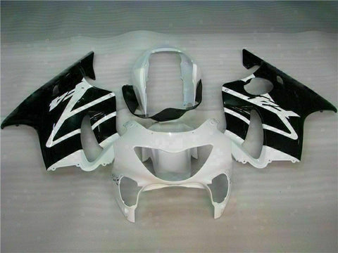 MS White Black Fairing Injection Fit for Honda 1999-2000 CBR600 F4 ABS Plastic u008