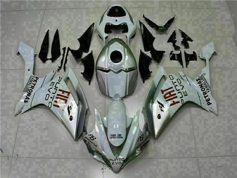 MSB Injection New White Plastic Fairing Fit for Yamaha 2007-2008 YZF R1 g040