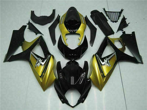 MS Injection Gold Black Fairing ABS Kit Fit for Suzuki 2007-2008 GSXR 1000 p049